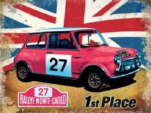 Mini Cooper Union Jack - Metal Wall Sign (3 sizes)